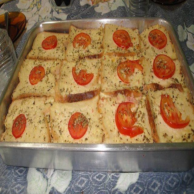 Lanche de pão de forma
